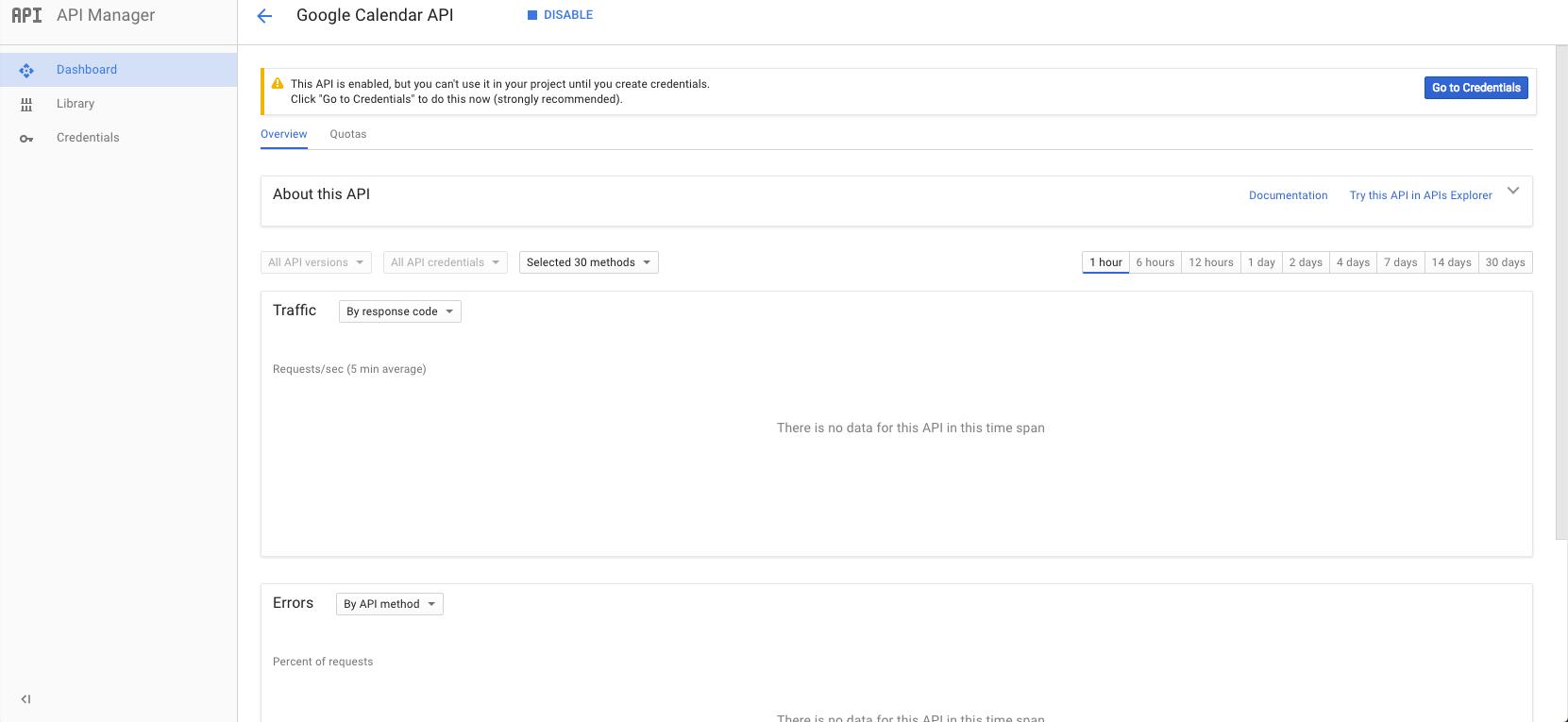 How To Create Google Calendar Api Key